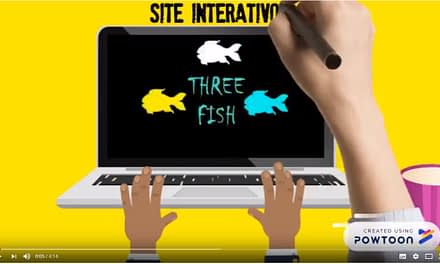 Site Interativo Three fish