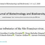 Diversidade ictiológica em três tributários do rio São Francisco, Brasil