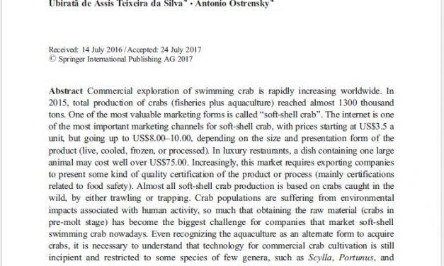 Situação atual da produção e comercialização mundial de siris-moles